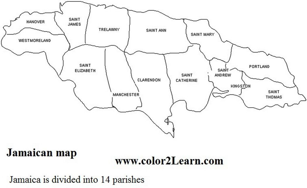 Jamaica Coloring Pages Flag Map 530816 Coloring Pages For Free