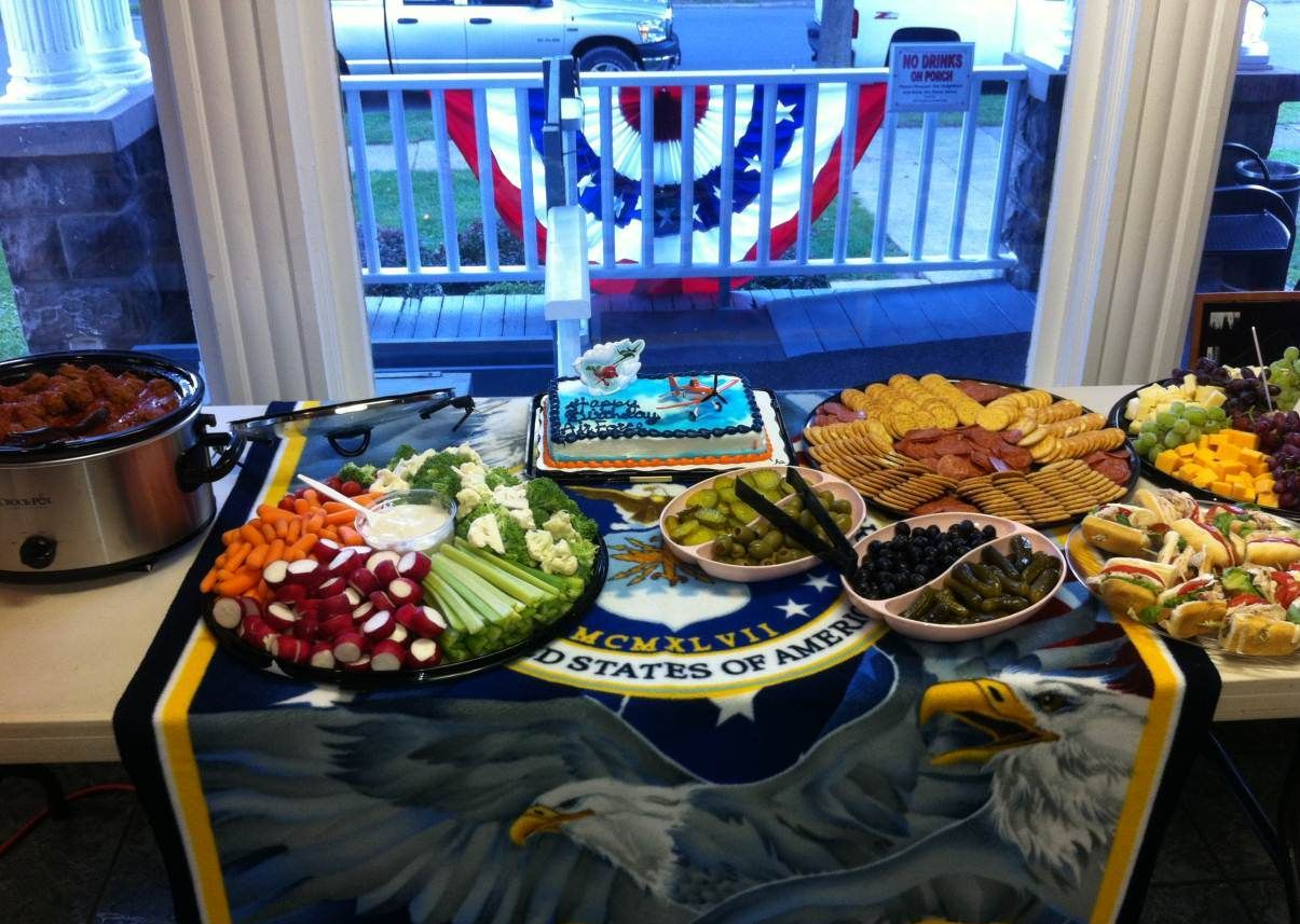 back to post air force party decorations