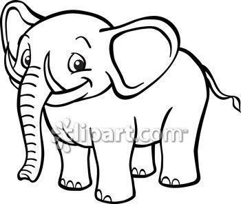 Clipart Com Closeup Royalty Free Image Of Africa And Animal Black Cartoon Cute Drawing Ears Elephant E Black And White Cartoon Cartoon Elephant Cute Drawings