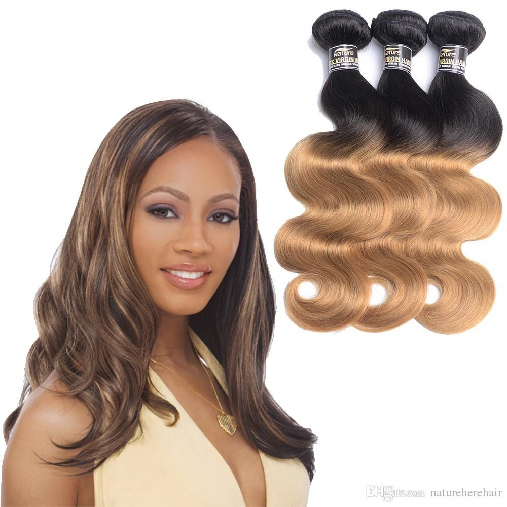 3 Bundleslot 7a Grade 1b27 Ombre Human Hair Bundles Brazilian