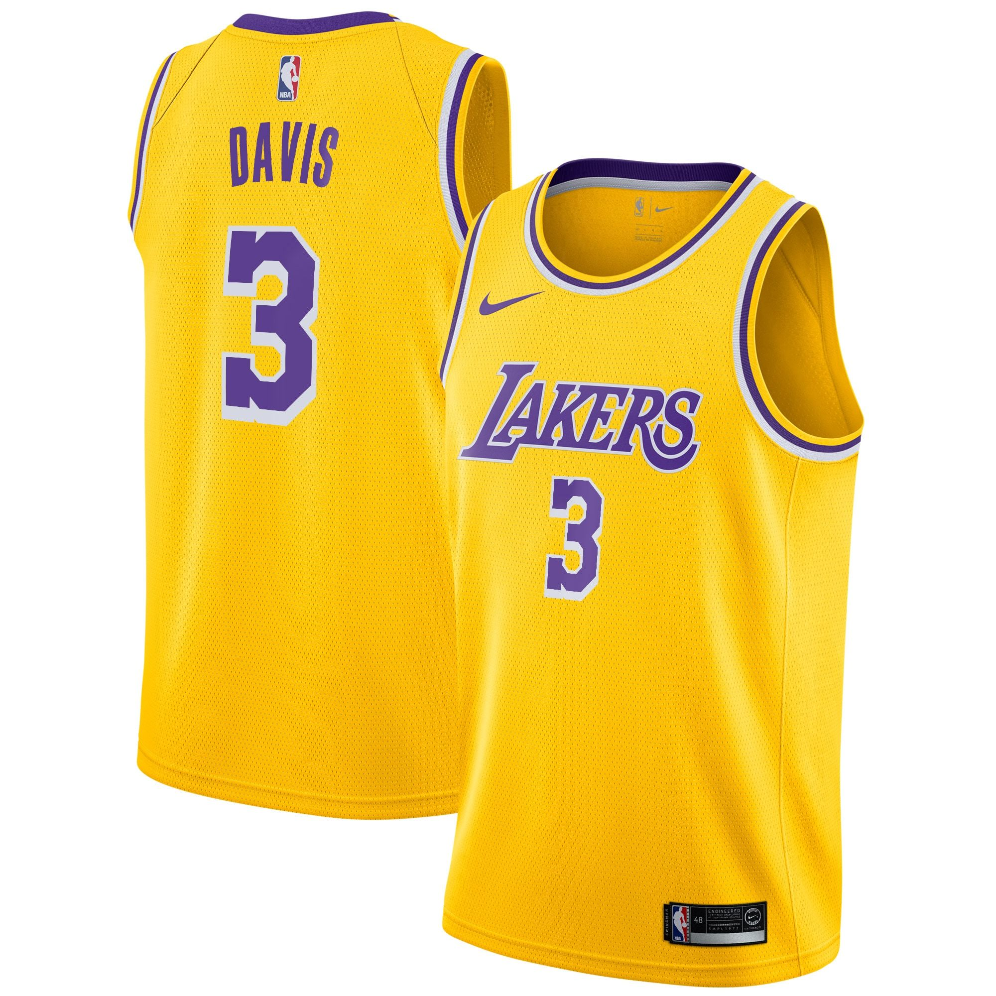 Men S Los Angeles Lakers Anthony Davis Nike Gold 2019 20 Swingman Jersey Icon Edition In 2020 Nike Men Los Angeles Lakers Anthony Davis