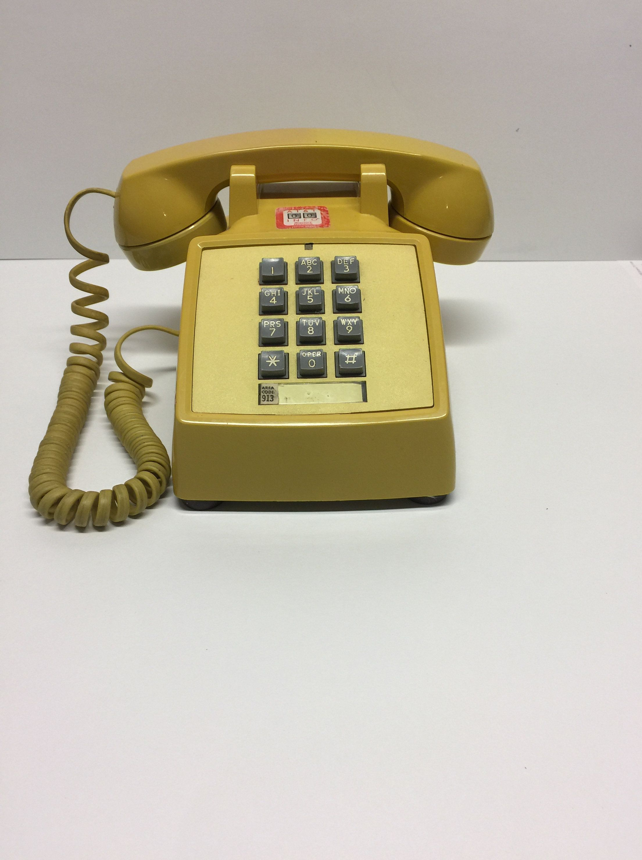 Vintage Western Electric Telephone,Bell System Phone,Yellow ...