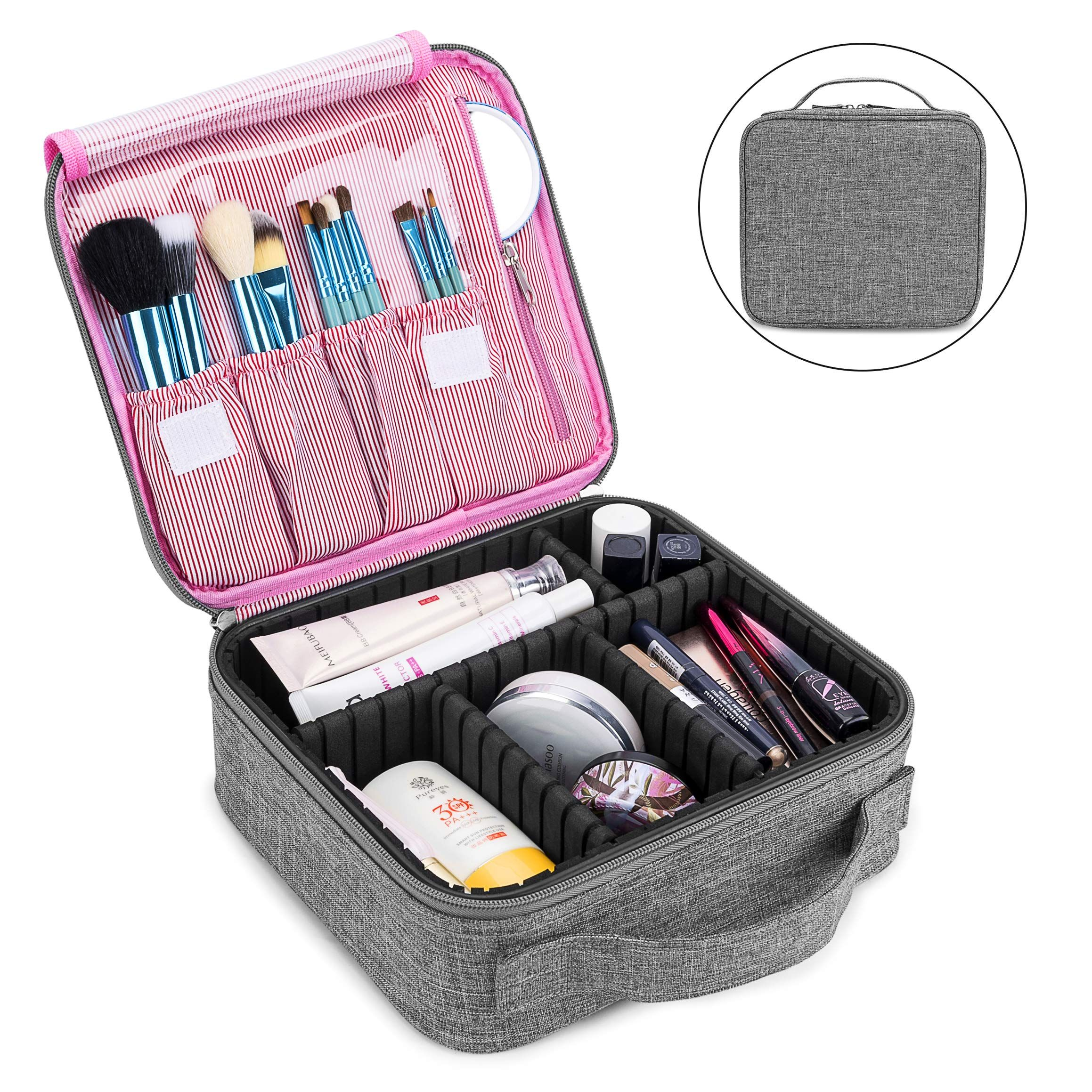 bf2ab4007647 Amazon.com : Makeup Bag Travel Cosmetic Bag for Women Nylon Cute ...