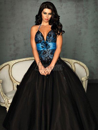 Blue And Black Prom Dress - Ocodea.com