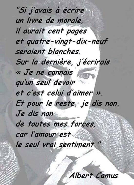 Albert Camus Citation Citation Francais Et Citations