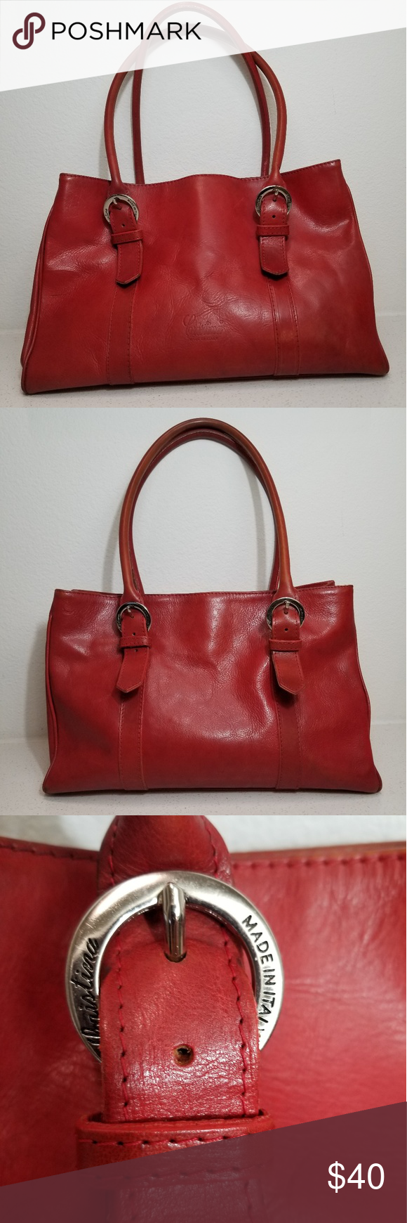 Christina Made In Italy Leather Bag This Is A Red