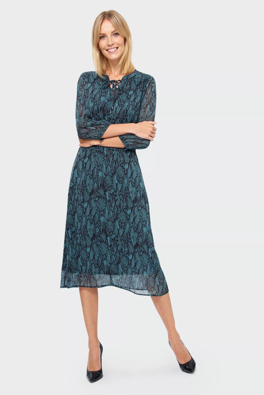 Wzorzysta Sukienka Rozmiar 42 Kolor W19prt65 Dresses Lace Skirt Cold Shoulder Dress