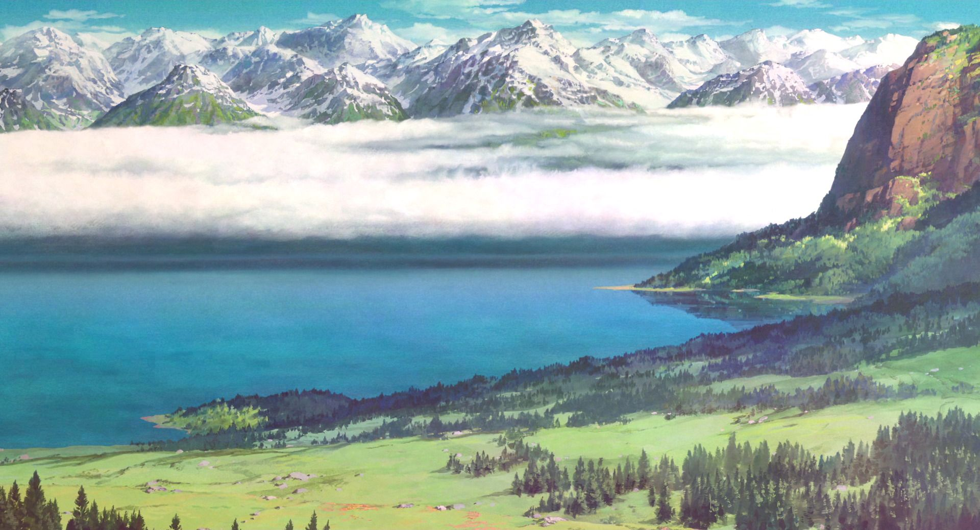 Pin by Silver Wolf on Anime Studio ghibli background