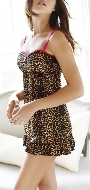 Leopard Badydoll Nightie 3 Leopard Print So Much Would Rock This