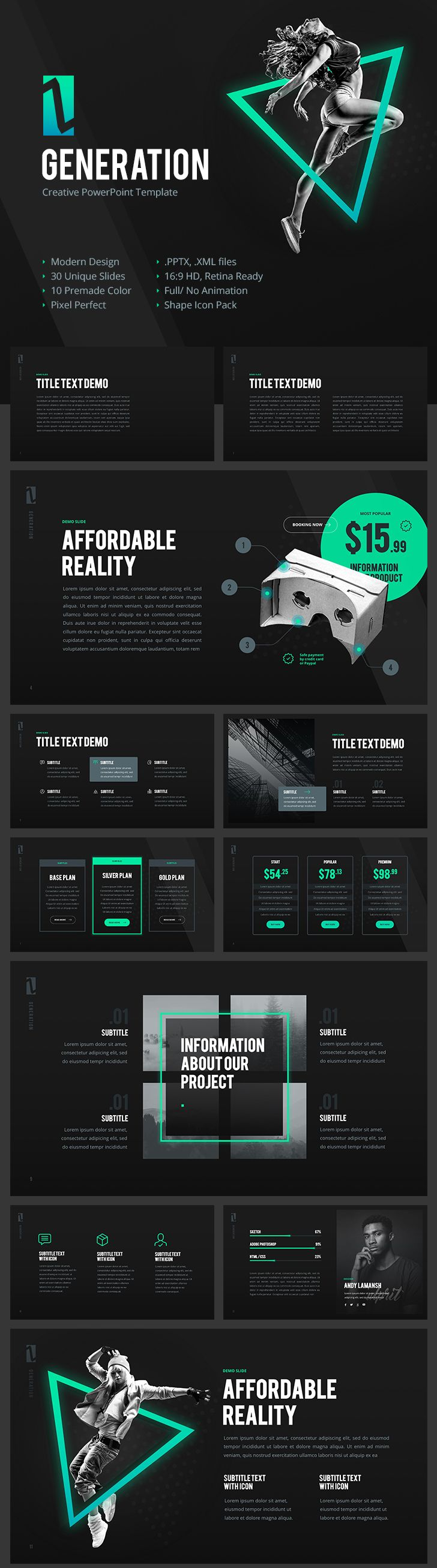 generation z creative powerpoint template
