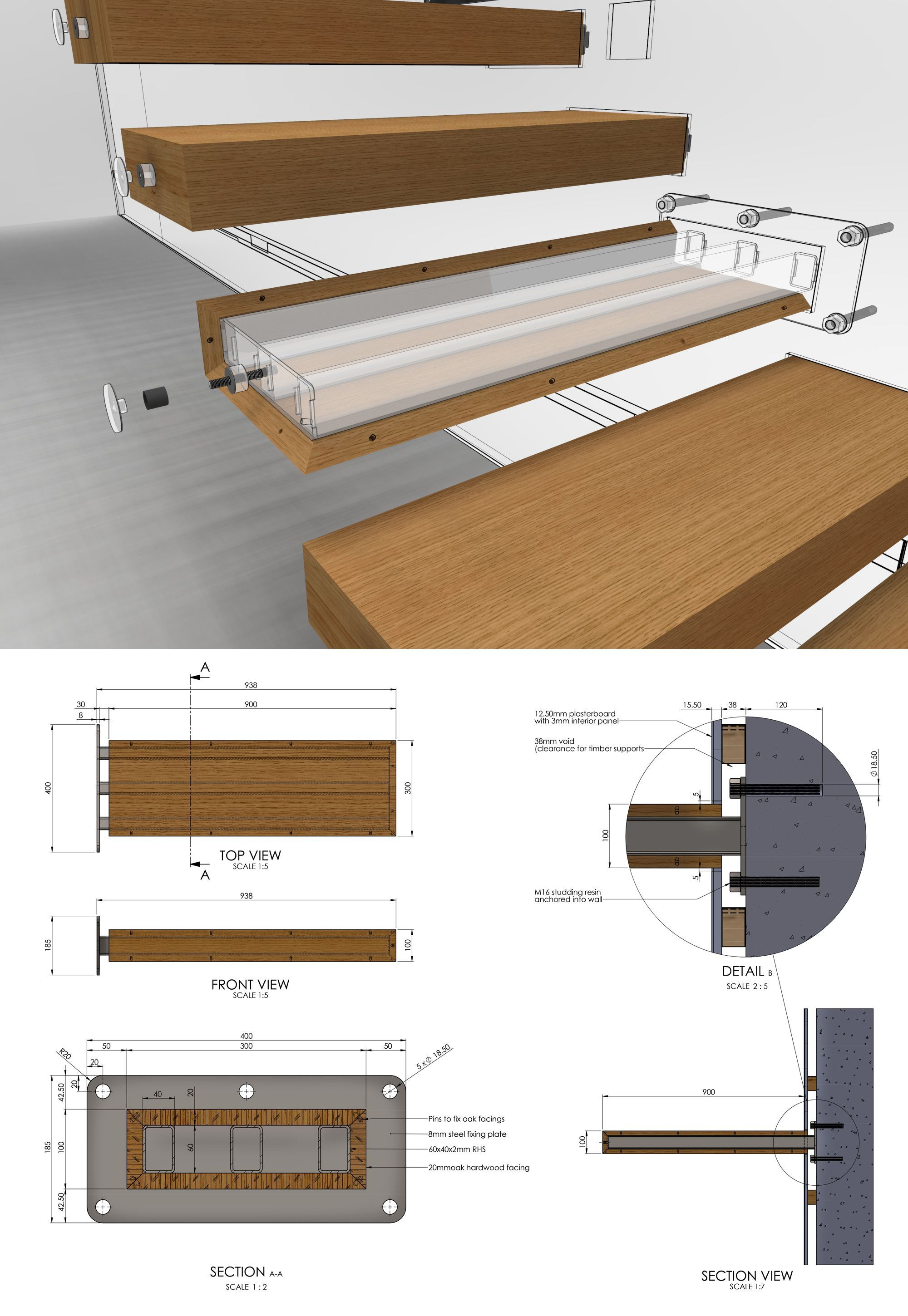 To Learn How To Design A Cantilevered Staircase Visit Homedesigntutorials Com Design Construction Archi Stairs Design Stairs Design Modern Staircase Design