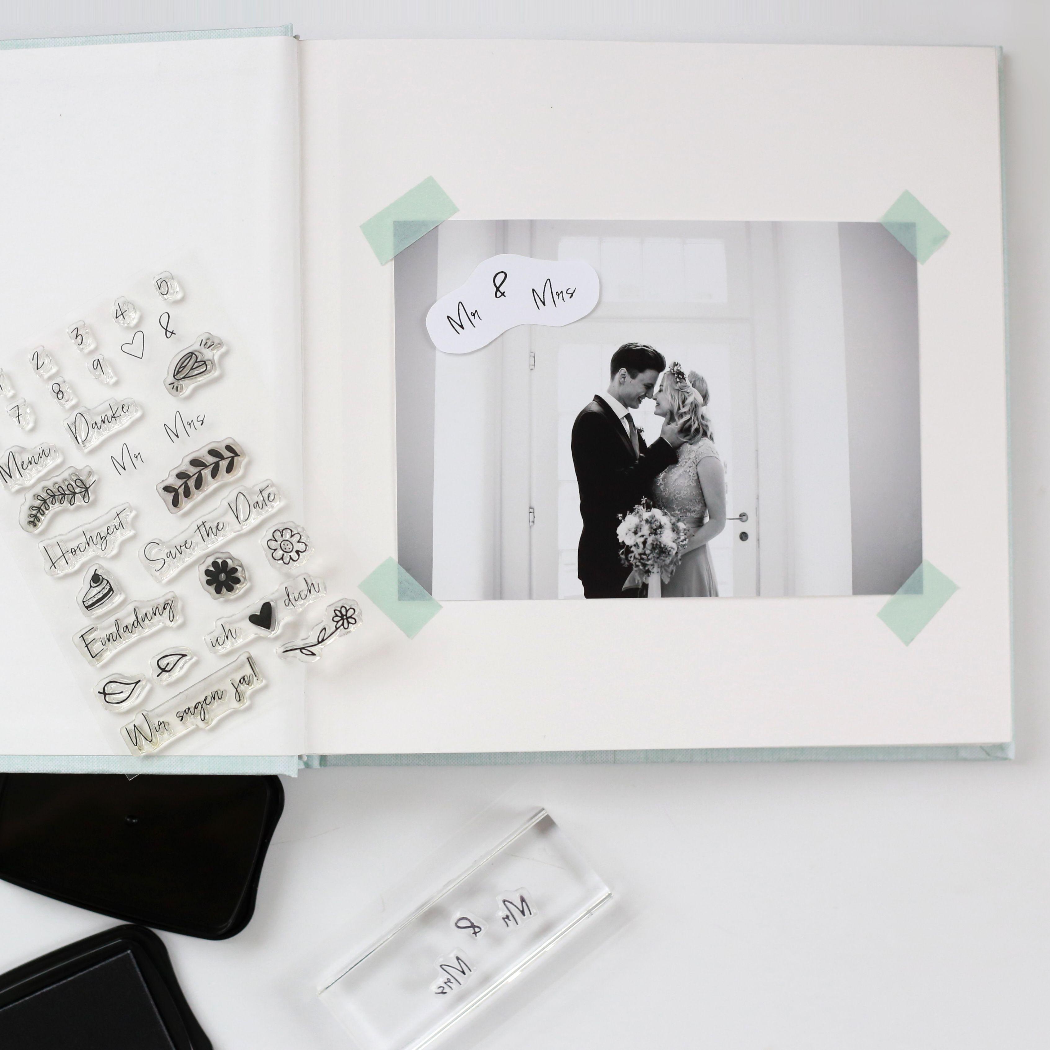 Hochzeitsfotoalbum Zum Selbst Gestalten Stempel Hochzeit Wedding