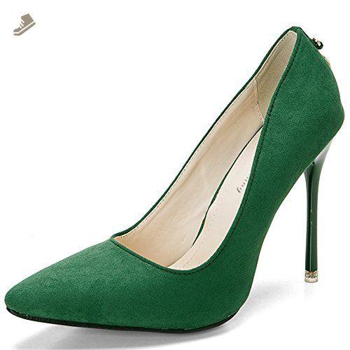 Bridal Pointed Toe Chunky High Heel Crystal Pumps FSJ