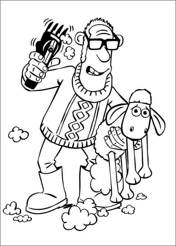Shaun the Sheep Coloring Pages 4 | Coloring pages for kids ...