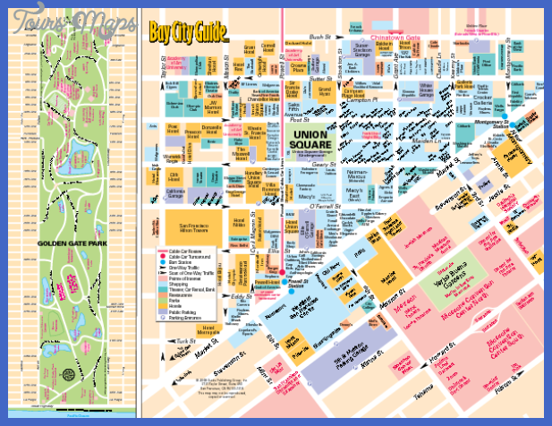 cool San Francisco Map Tourist Attractions | Tours Maps | Pinterest ...