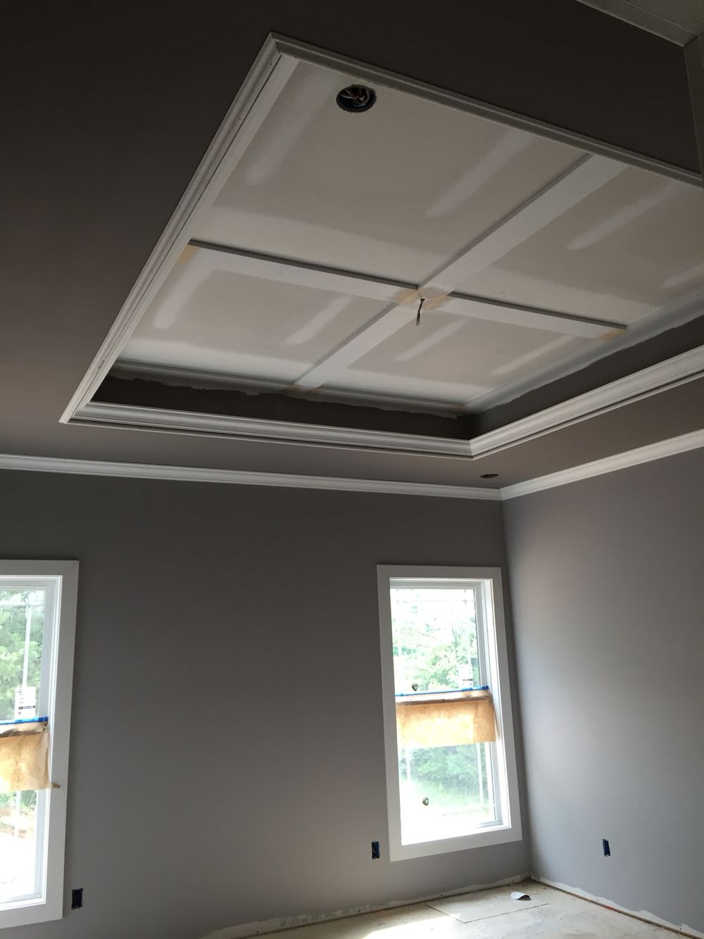 Best Master Bedroom Tray Ceiling Sherwin Williams Mink And 400 x 300