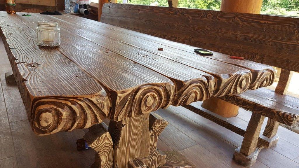 представлена разновидность столы деревянные из массива ручной работы фото дачных домов