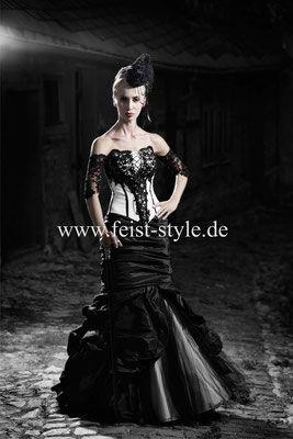 Extravagante Brautmode, schwarze Brautkleider, schwarz ...