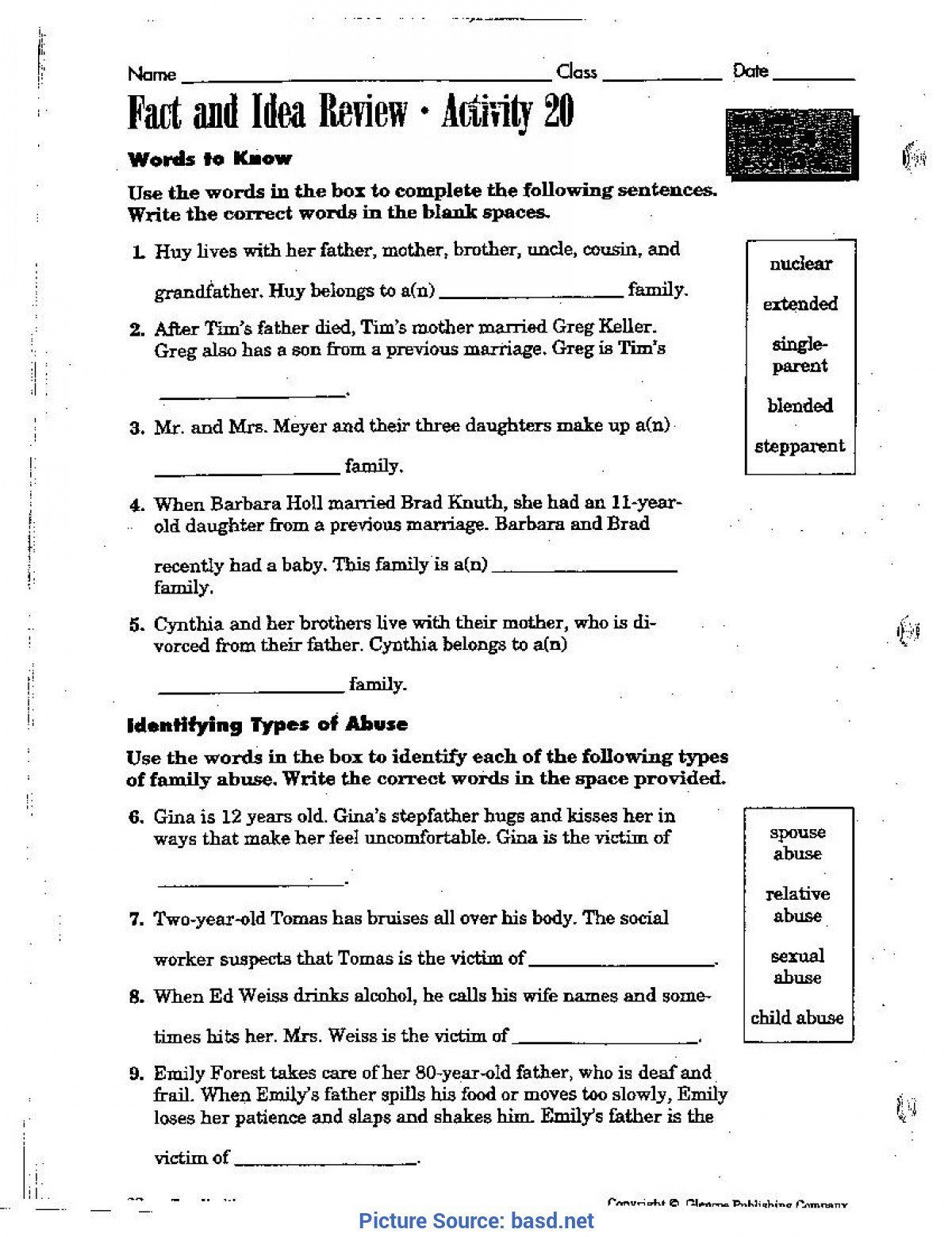 hight resolution of Buddy Or Bully Worksheet   Printable Worksheets and Activities for  Teachers