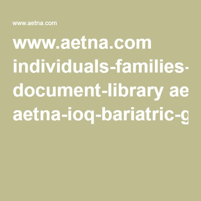 Www Aetna Com Individuals Families Health Insurance Document Library