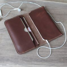 leather wallets Handmade coffee leather iphone wallet case,iphone 6 iphone 6 plus leather wallets ,iPhone 5 5s #leatherwallets