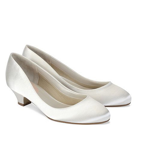 fb3df47a1c6c Pink by Paradox London Ivory satin  Rosemary  low heel court shoe ...