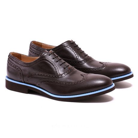 Wingtip // Dark Brown + Blue (US: 7)