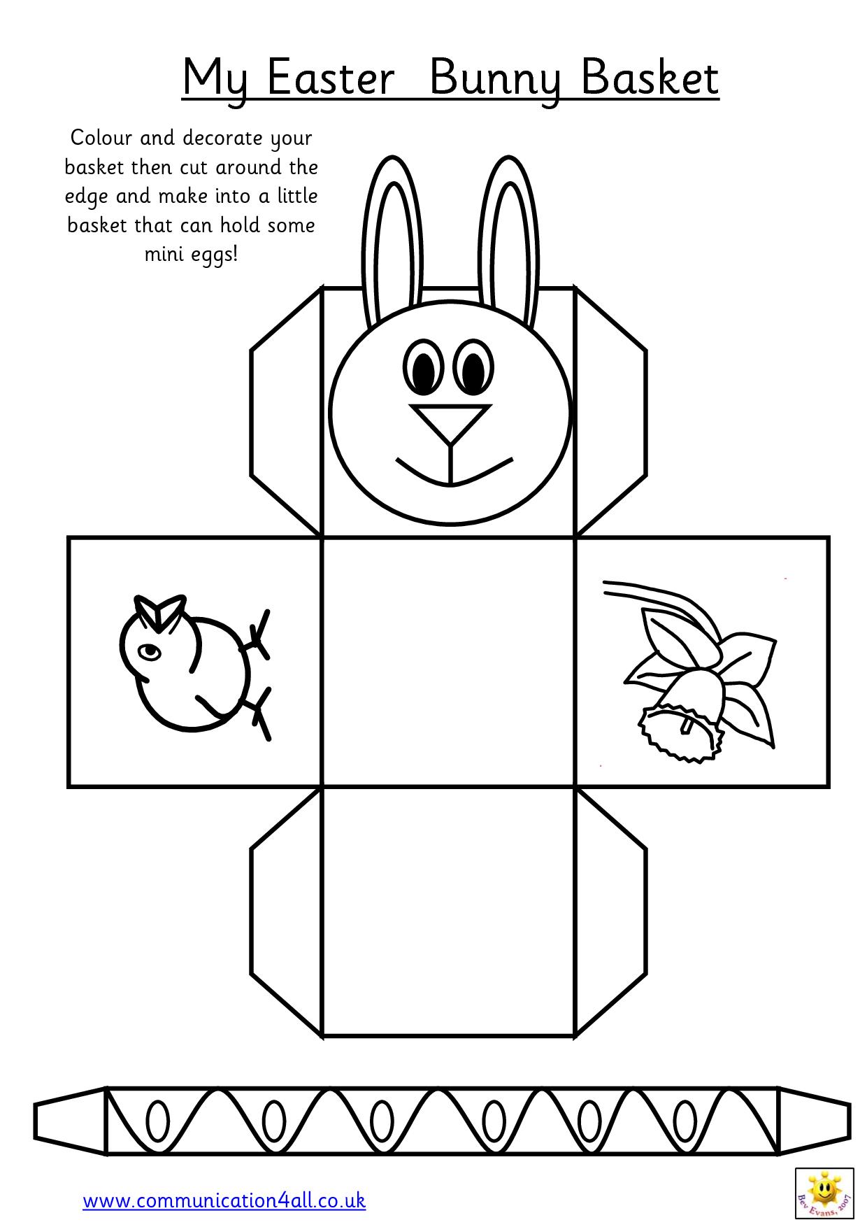 Pin By Joyce Enos On Crafts Easter Basket Template Printable Easter Activities Easter Basket Printable