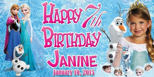 Birthday Tarpaulin Disney Frozen Theme Version 2 Template ...