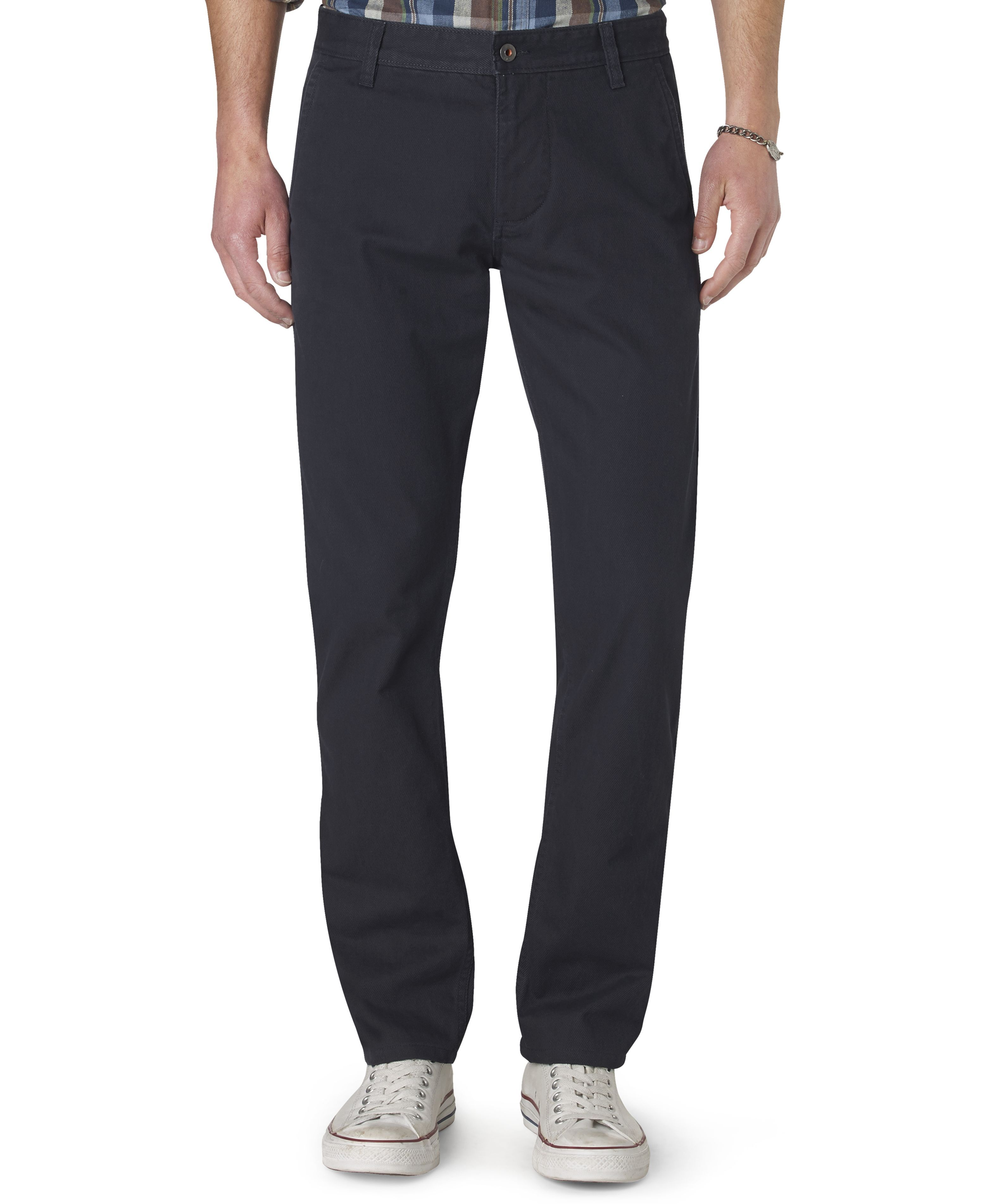 Dockers Slim Fit Alpha Khaki Textured Flat Front Pants