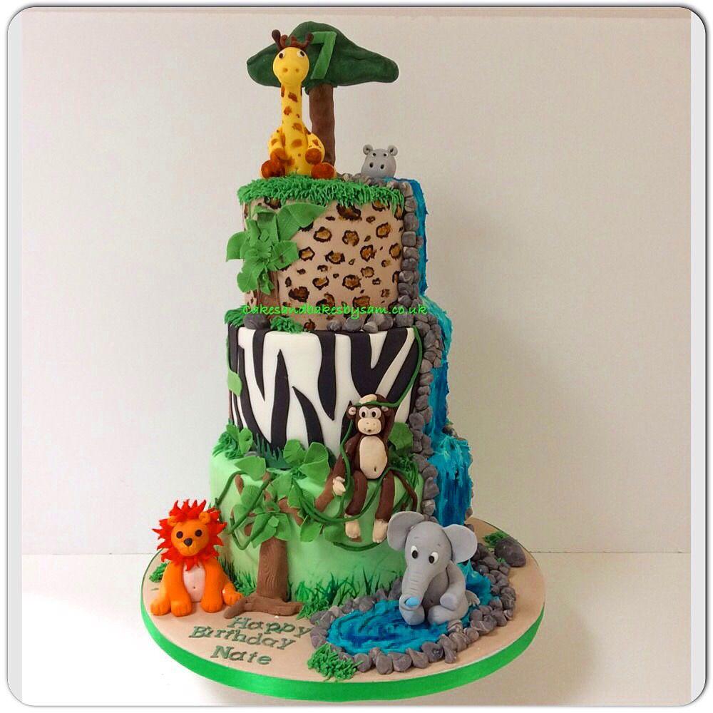 Show Stopper Animal Print Safari And Animal Themed Birthday Cake
