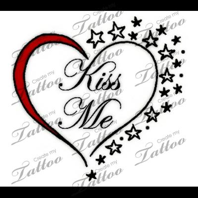 Marketplace Tattoo Kiss Me Tattoo 19220 Createmytattoo Com Custom Tattoo Design Tattoos Custom Tattoo