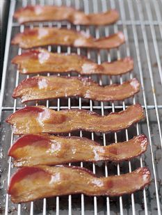 barefoot contessas maple roasted bacon trick for no mess bacon she puts it - Ina Garten Baked Bacon