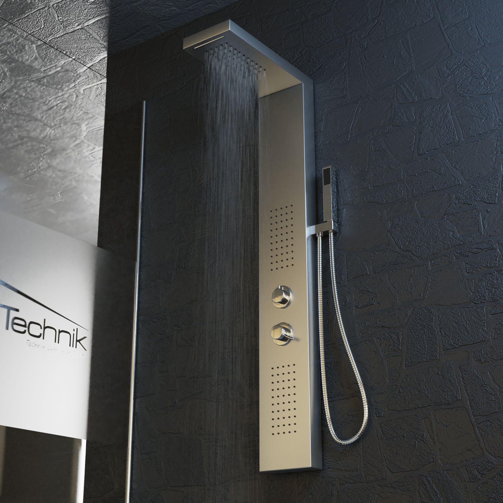 Duschpaneel Poseidon Edelstahl In 2020 Dusche Waschbecken Schwarz Duscharmatur