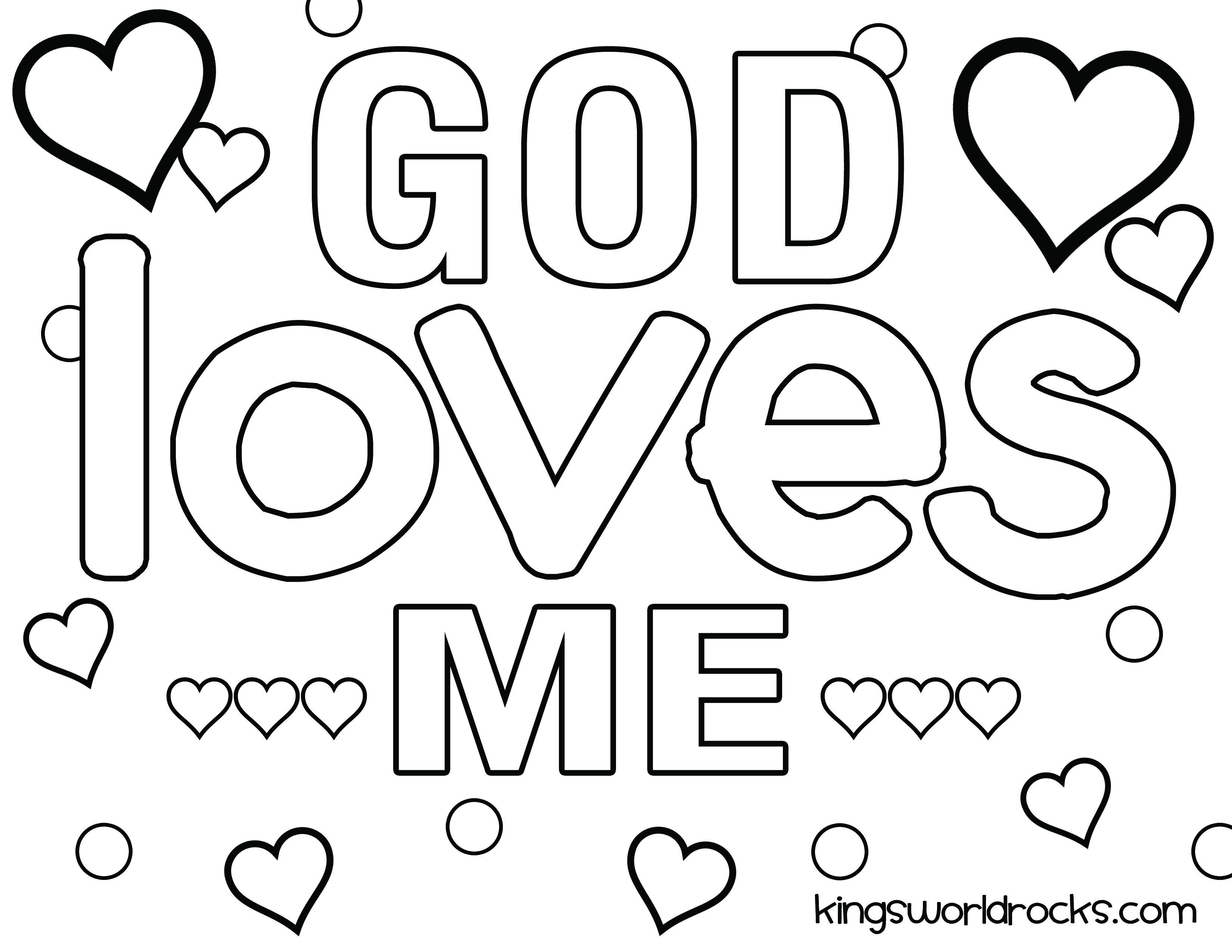 God Loves Me Coloring Page Sunday School Coloring Pages School Coloring Pages Sunday School Valentines