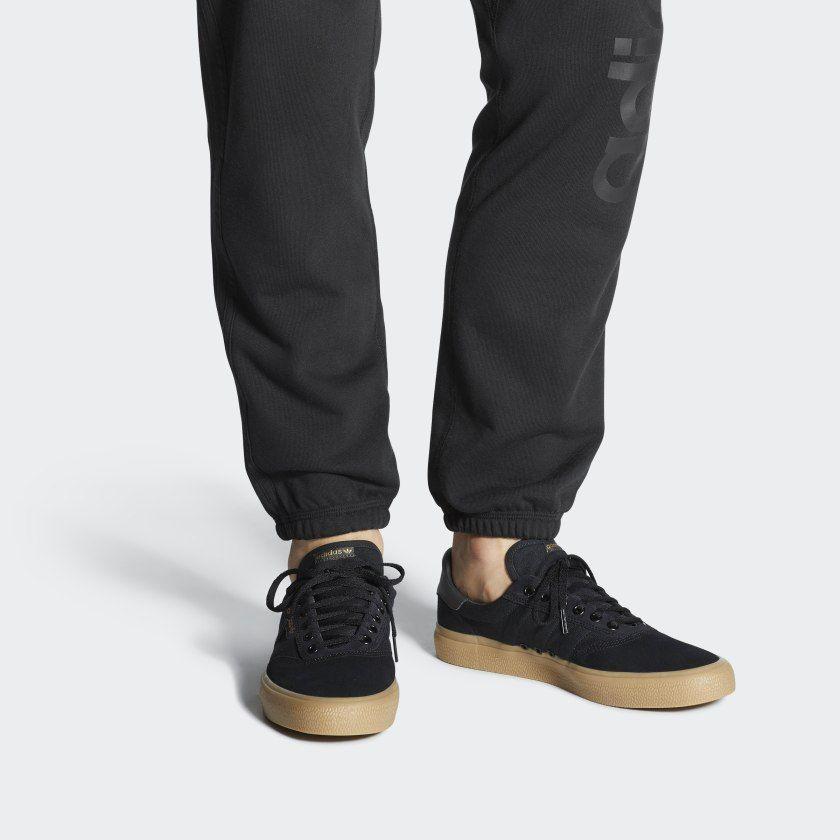 adidas black gum shoes