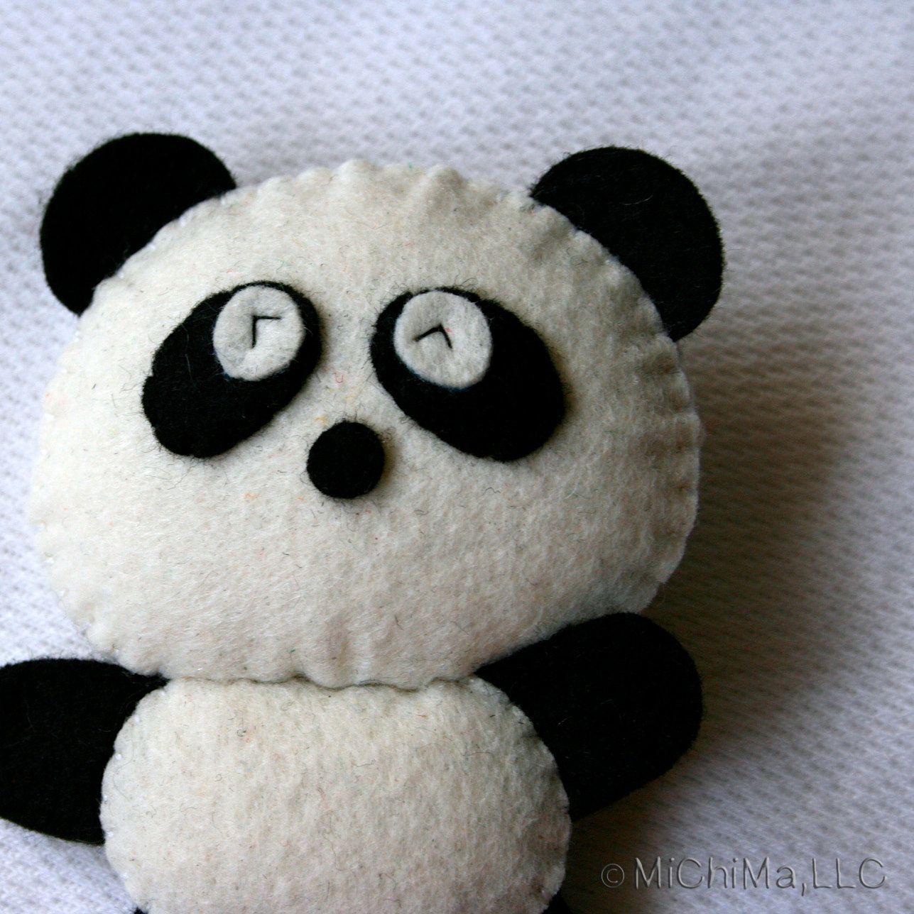 Ping The Giant Panda Stuffed Felt Animal Felt Animals
