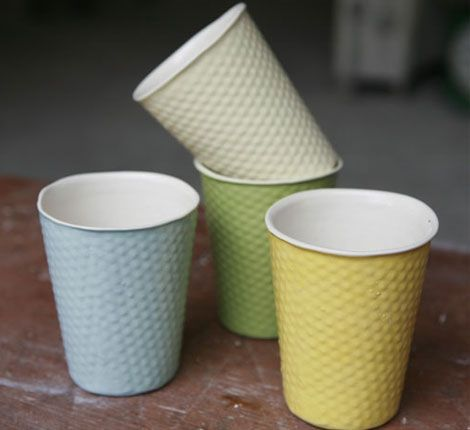 Porcelain Paper Cups Paper Cup Ceramic Cups Coffee Cup Storage