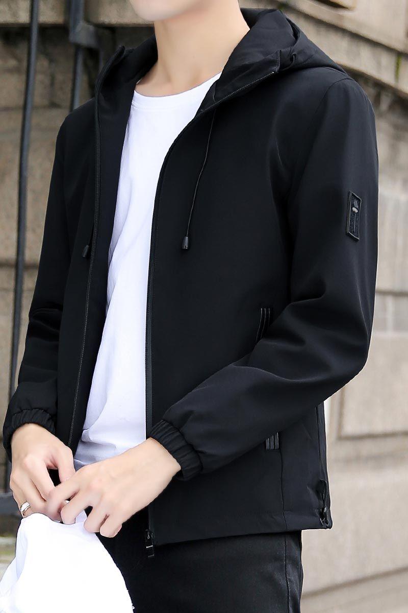 13cc2557c Black label pattern long sleeve zip jacket hoodies in 2019 | Men's ...