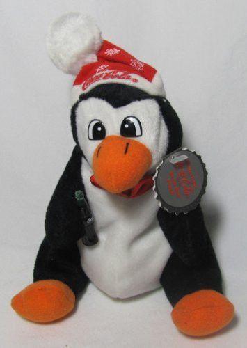 Coca-Cola Penguin 6 Plush Bean Bag in Snowflake Hat