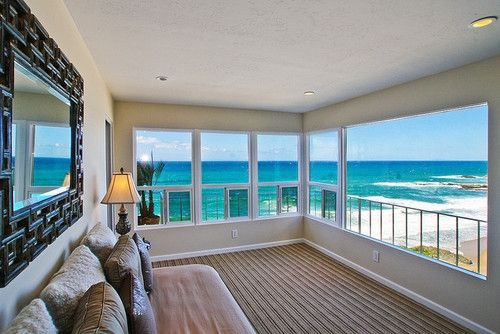 the most beautiful ocean view... my house has to have floor-to-ceiling windows for sure...