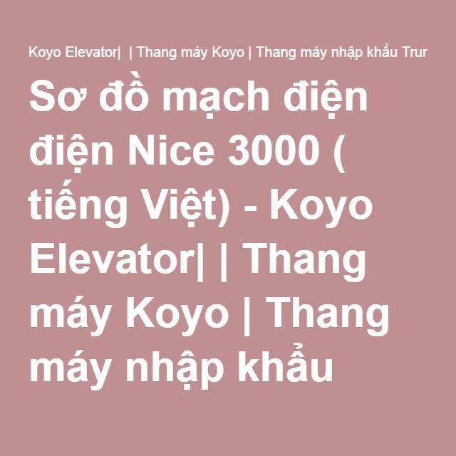Ghim Tren Thang May Koyo Tại Việt Nam