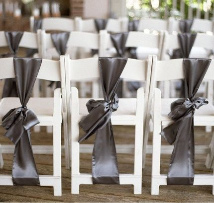Different ways to tie a chair sash Tables Chairs Pinterest