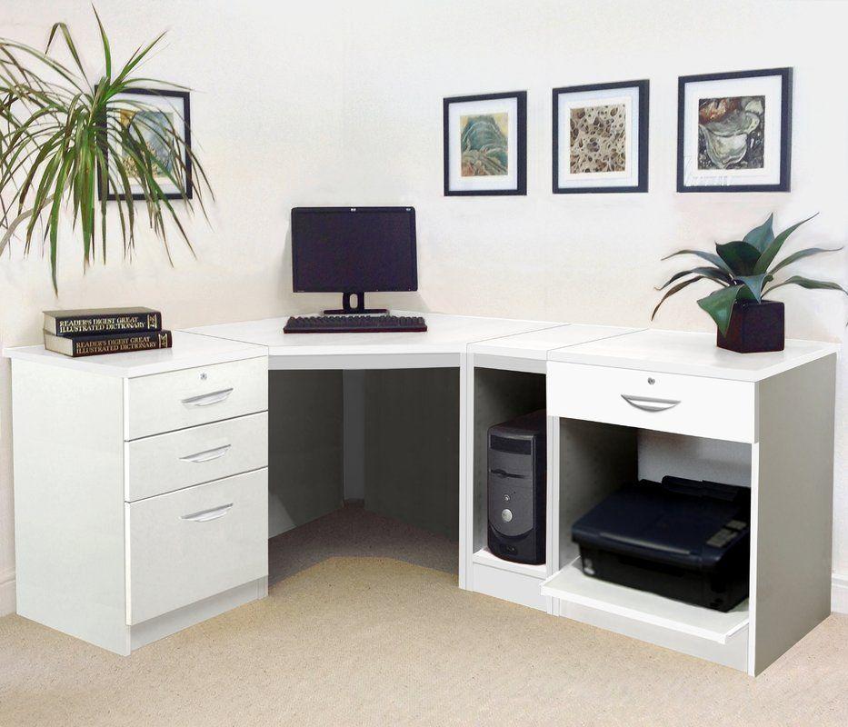 L Shape Computer Desk Design Schreibtisch Kleine Heimburos Haus L shaped computer desk with storage