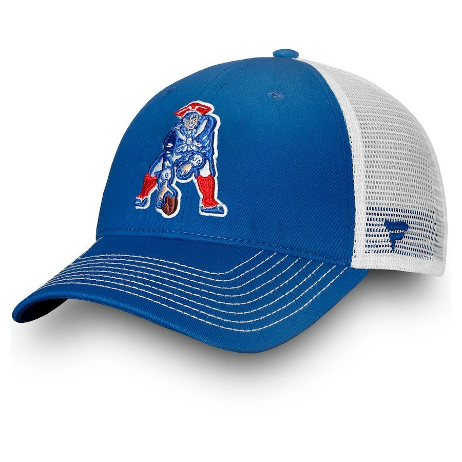 743c5ad6191c6f Men's New England Patriots NFL Pro Line by Fanatics Branded Royal/White  Vintage Core Trucker II Adjustable Snapback Hat, Your Price: $21.99