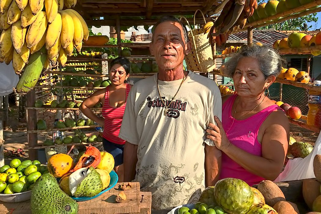 PHOTO Tropical Fruit Stand near Trinidad, Cuba Trinidad cuba - invitation letter for us visa cuba