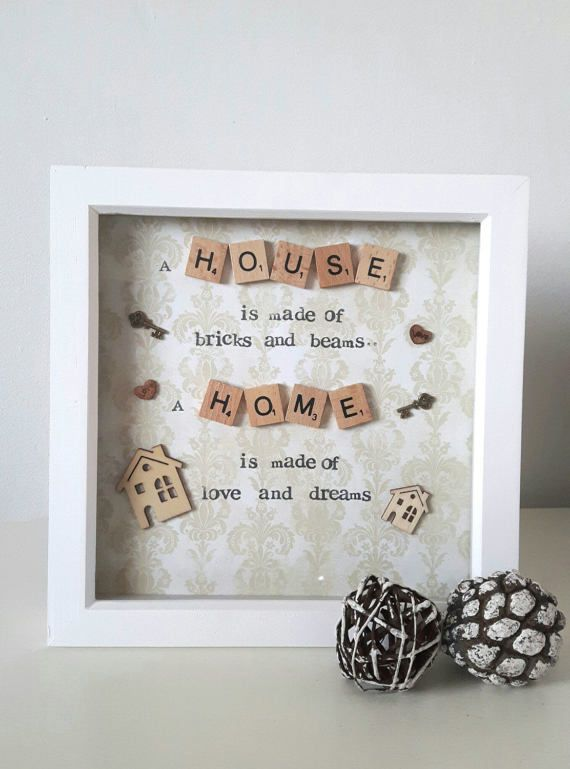 This hand-made scrabble art frame would make the perfect addition to ...
