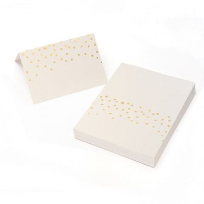 Gartner Studios Gold Foil Dots Place Cards 50 Pack Staples