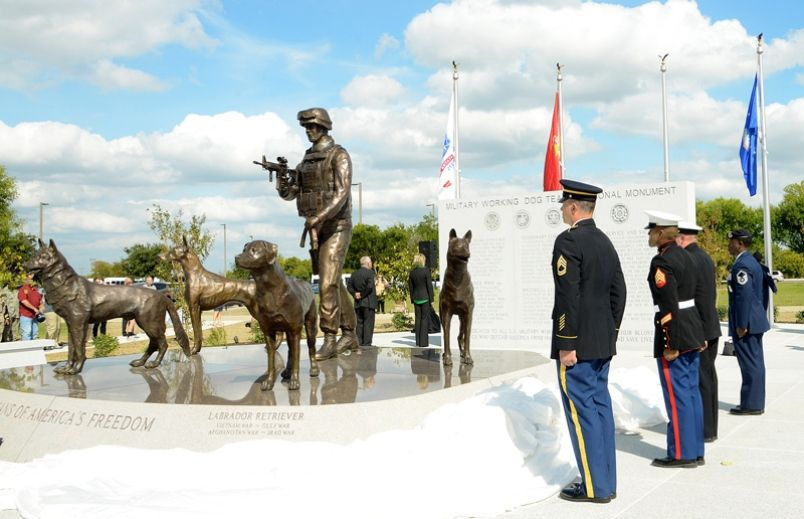 National Monument To Military Working Dogs Dedicated At Lackland Military Dogs Military