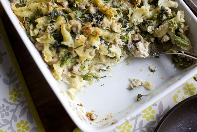 Baked Pasta With Broccoli Rabe And Sausage Pass The Pasta